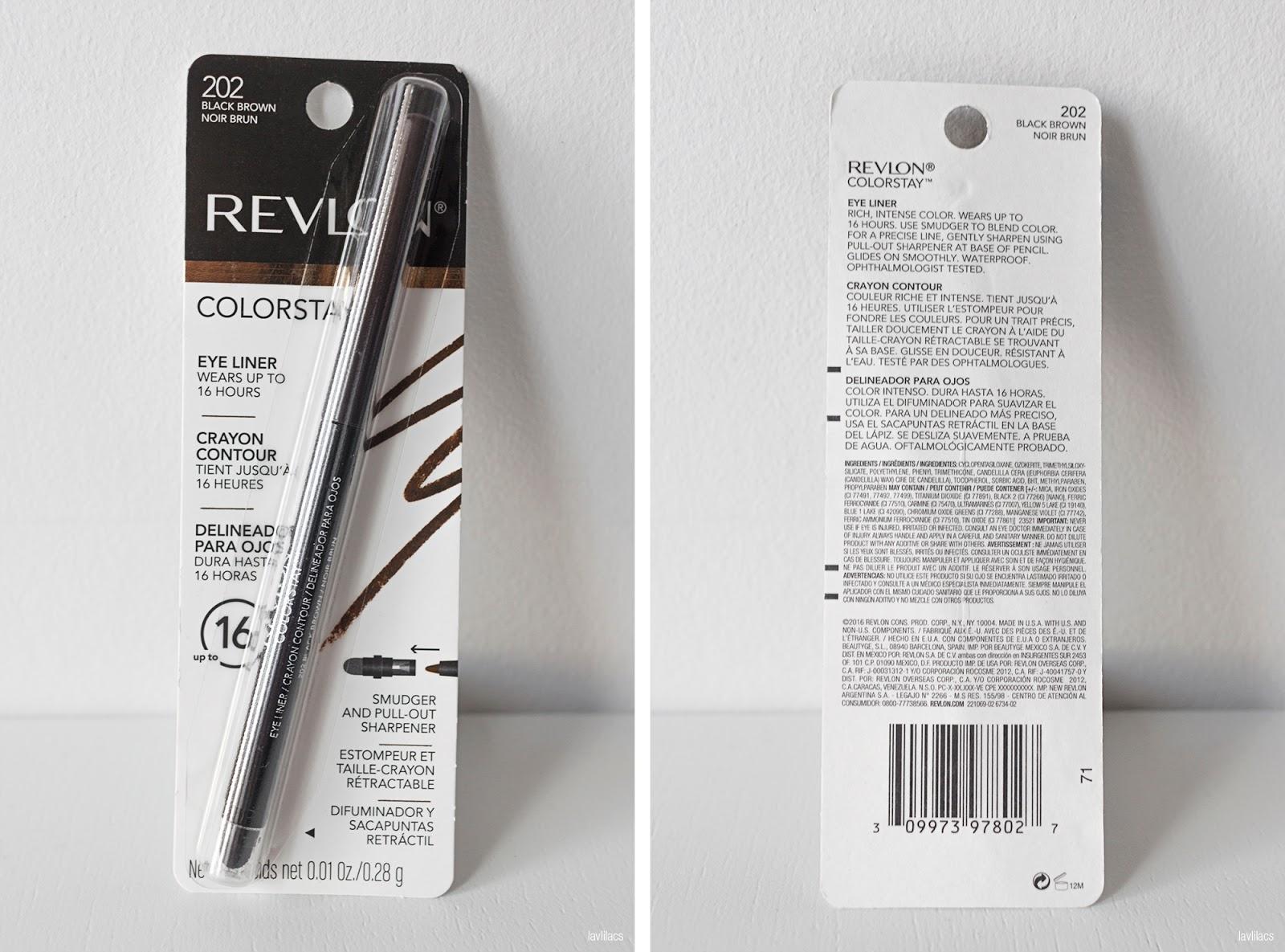 lavlilacs Revlon Colorstay Eye Liner 202 Black Brown packaging