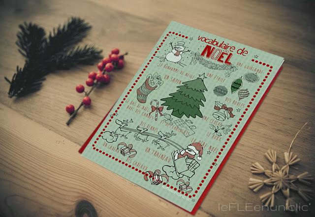 vocabulaire de Noël infographie, le FLE en un 'clic'