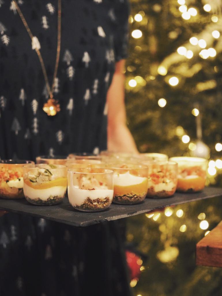Verrines pour un dîner de Noël entre amis
