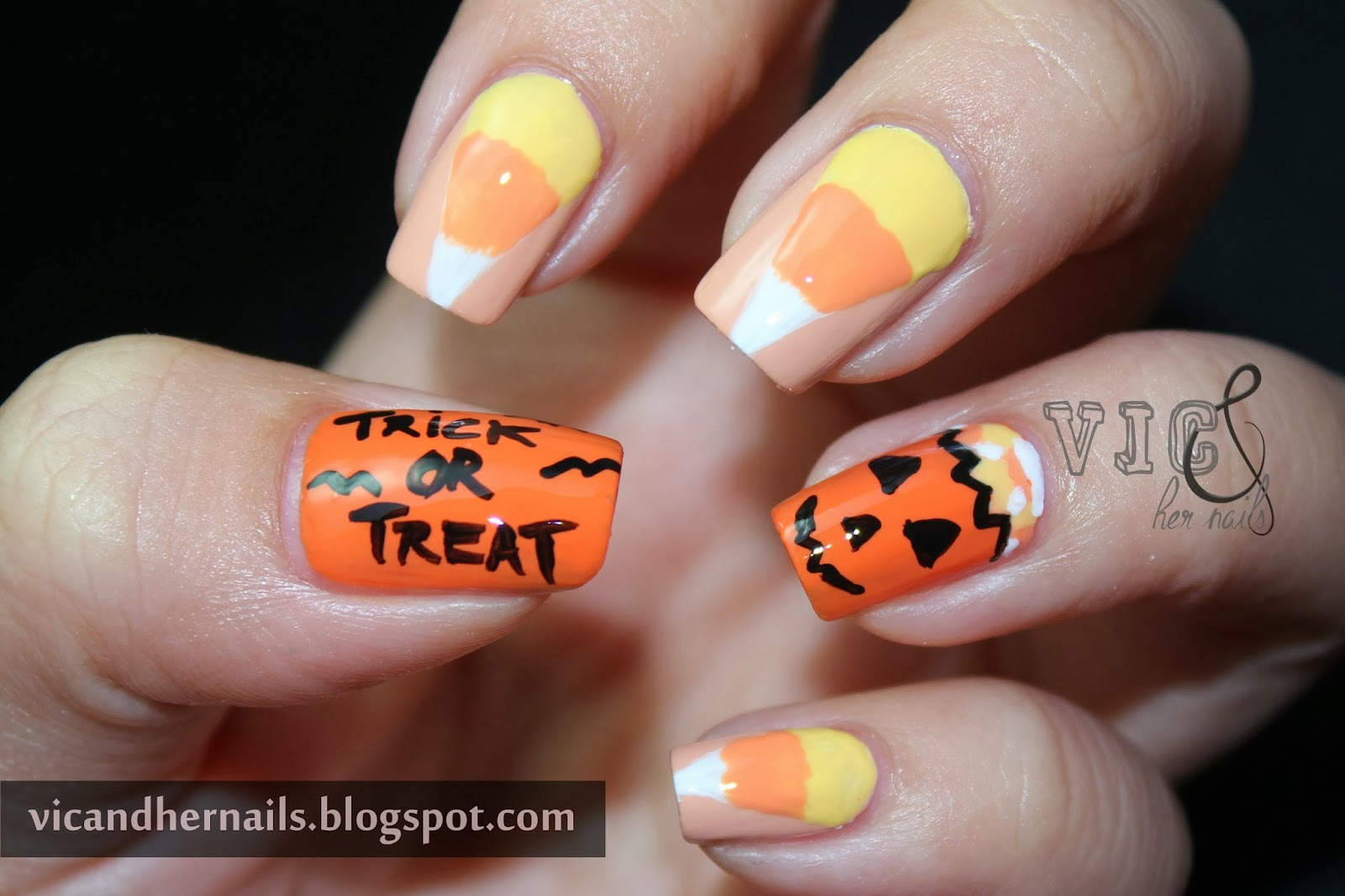 Vic and Her Nails: Halloween Nail Art Challenge Day 1 ...
