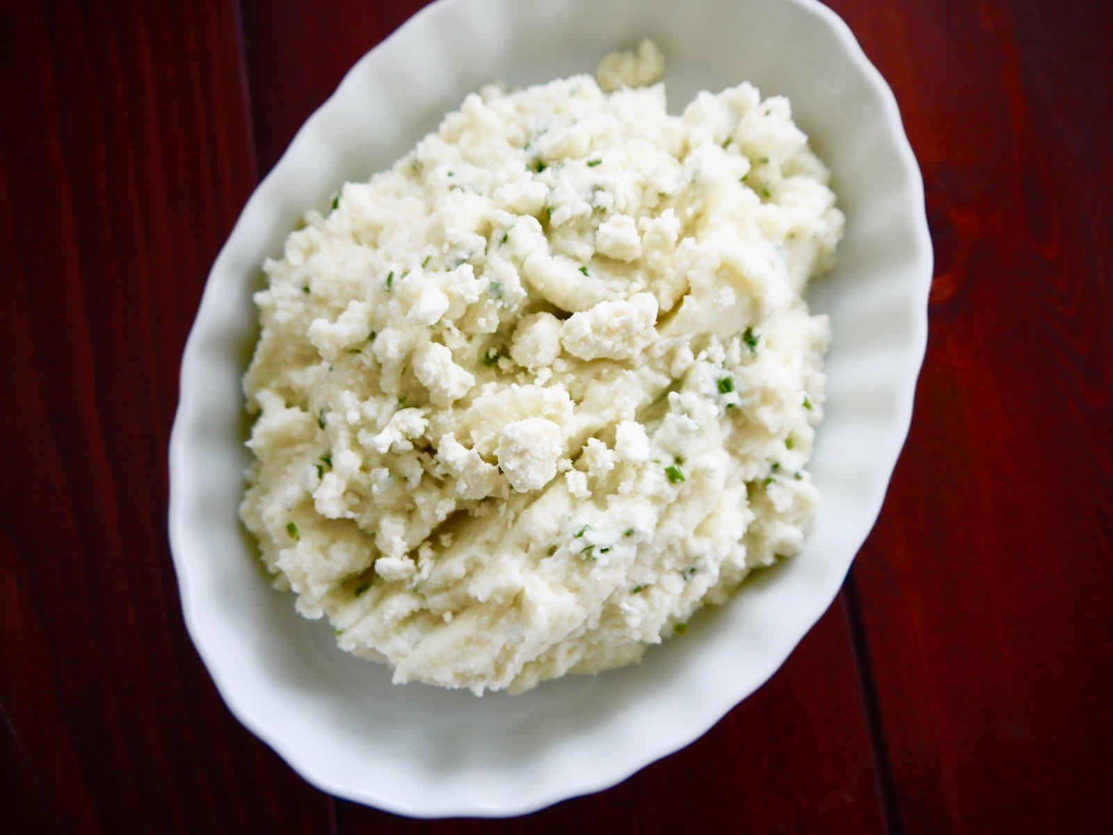 Eighty Twenty: 80--- Feta and Chive Mashed Cauliflower
