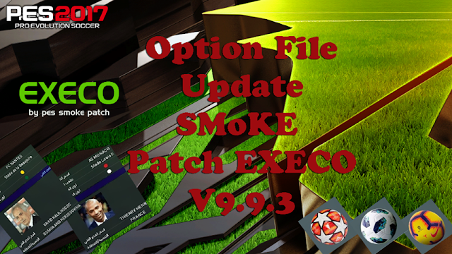 PES2017 Option File Update SMoKE Patch EXECO v 17 0 2 Season