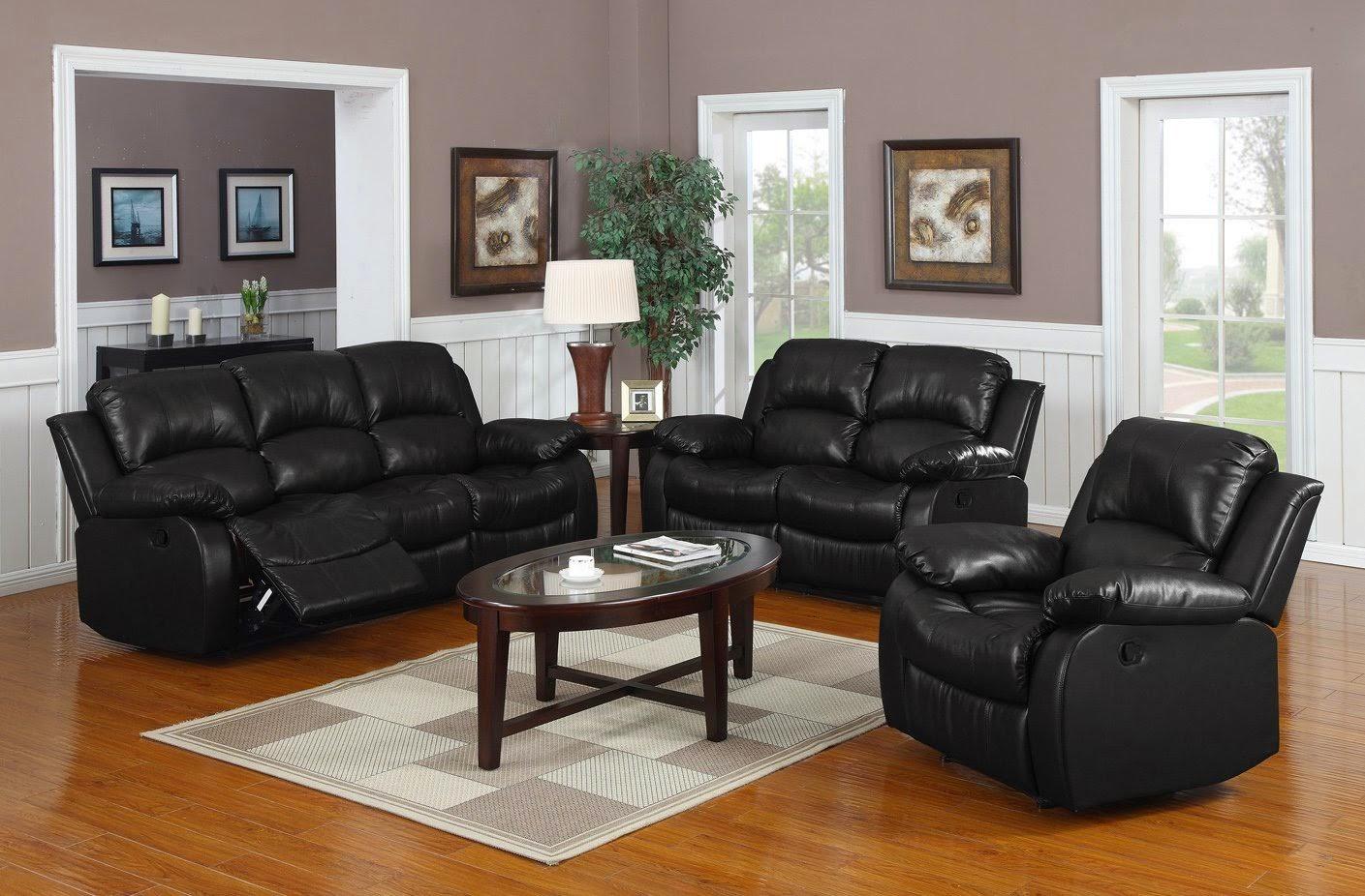 Milano Leather Recliner Sofa Set Reviews