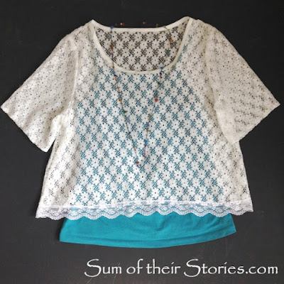 Lace top refashion
