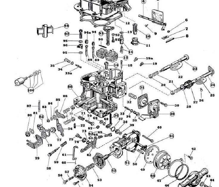 Ajuste de Motor: Despiece Carburador Weber 32-36 DGEV