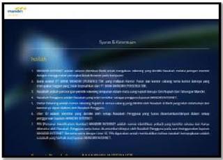 Gambar 2 Cara Aktivasi Mandiri Online di  Website