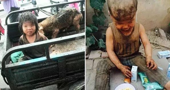 Astaga, Bocah Malang Ini Terpaksa Hidup dan Tidur di kandang Babi