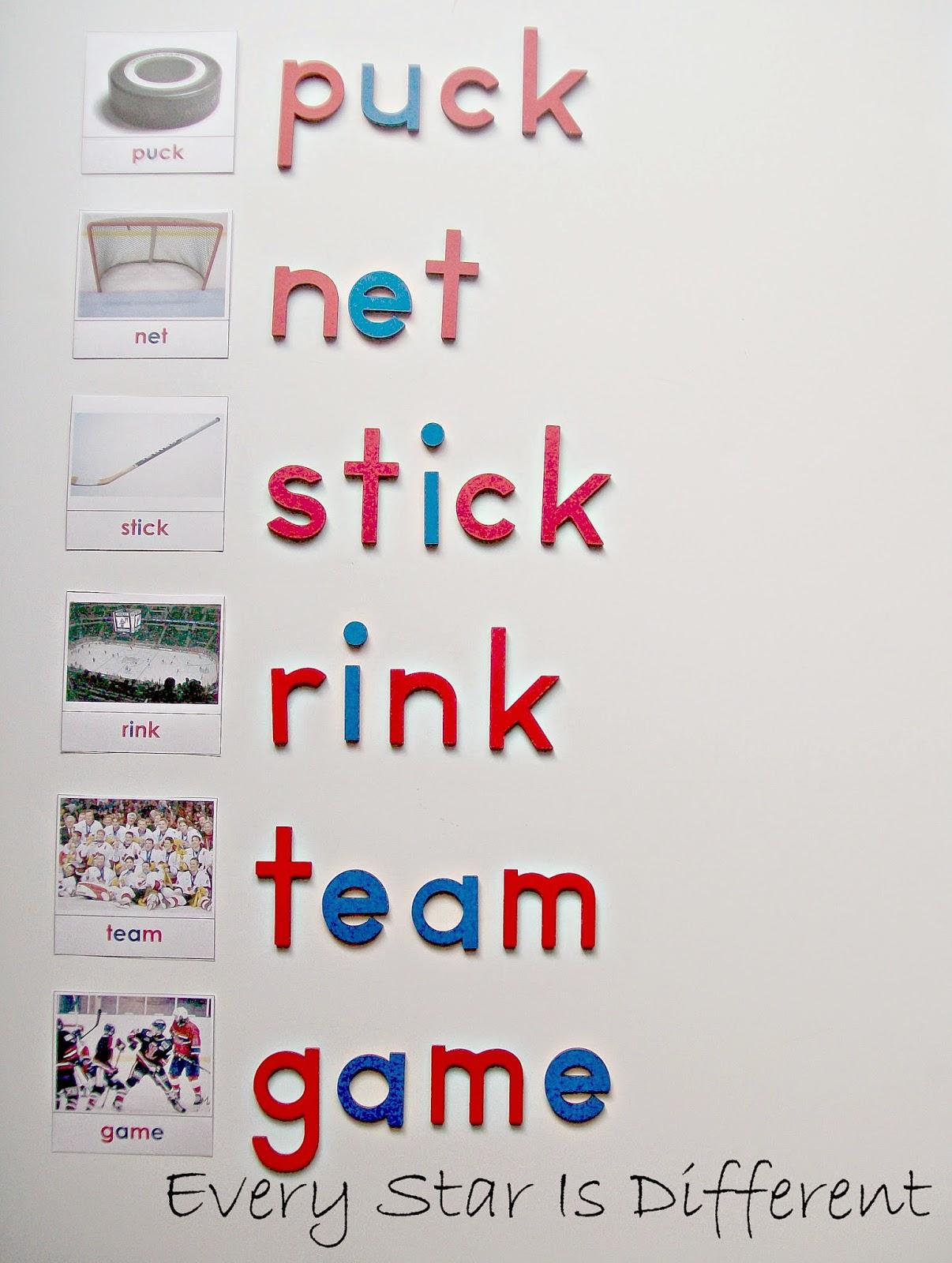 Hockey Unit W Free Printables