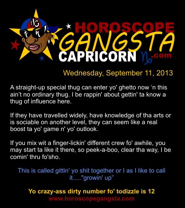 Horoscope Humor: Horoscope Gangsta: Today's Daily Horoscope
