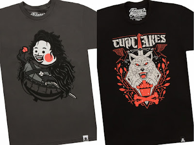 "Game of Thrones T-Shirt Collection by Johnny Cupcakes - ""Johnny Know Nothing Big Kid"" & ""North of the Bakery"""