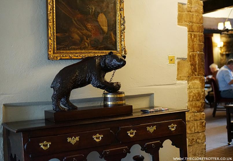 Bear statue at the Macdonald Bear Hotel