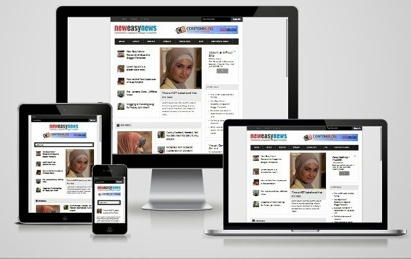 new easy news responsive blogger template