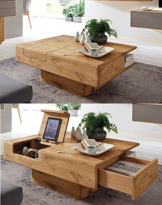 Diseño de mesa ratona de madera genial