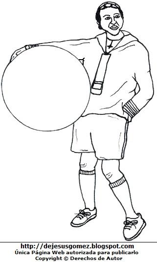 Dibujo de Quico o Kiko para colorear, pintar o imprimir, Kiko parado. Ilustración de Kiko de Jesus Gómez