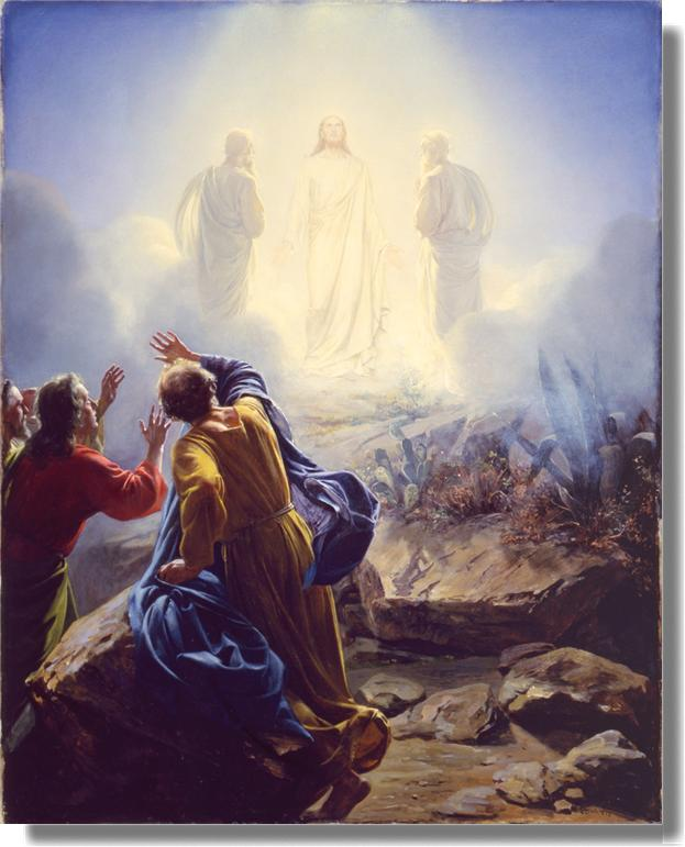 "RosaryPictures: ""The Transfiguration"" by Carl Bloch"