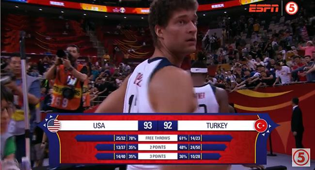 USA def. Turkey, 93-92 in OT Thriller (HIGHLIGHTS) FIBA World Cup 2019