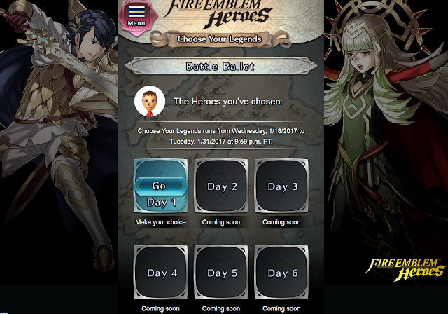 Fire Emblem Heroes Battle Ballot characters vote mobile site