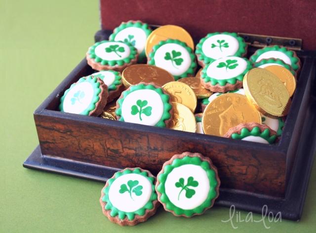 Leprechaun Loot Cookies!!! - decorated sugar cookies