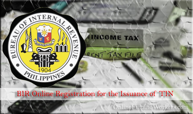 BIR Resumed Online Registration for the Issuance of TIN