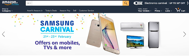 Amazon.in hosts Samsung Carnival between 21st February and 23rd February
