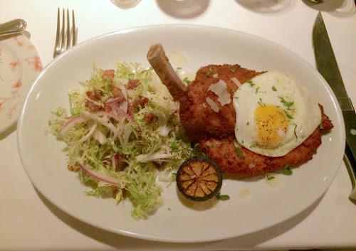 The Riggsby schnitzel a la Lyonnaise