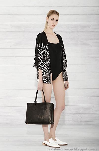 Carmela Achaval verano 2015 kimonos de moda.