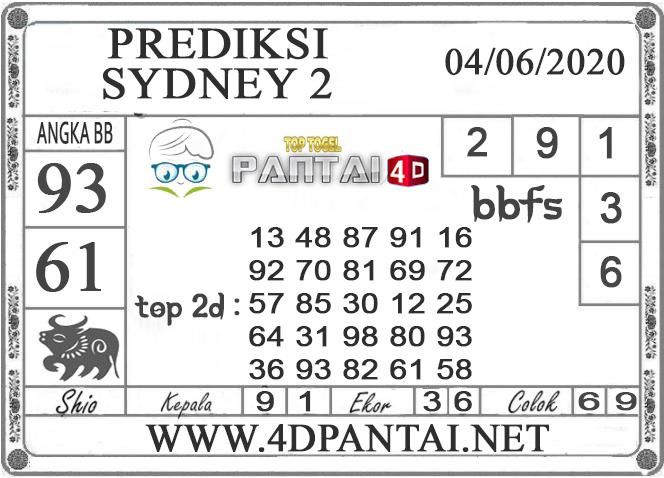 PREDIKSI TOGEL SYDNEY 2 PANTAI4D 04 JUNI 2020