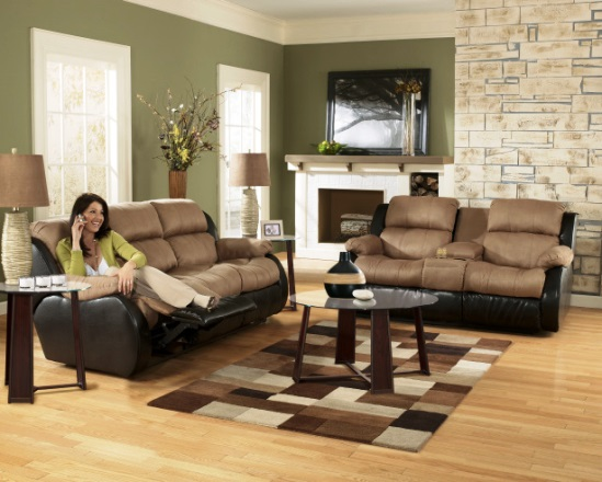 Ashley furniture reclining living room set home for Comfortable living room sets