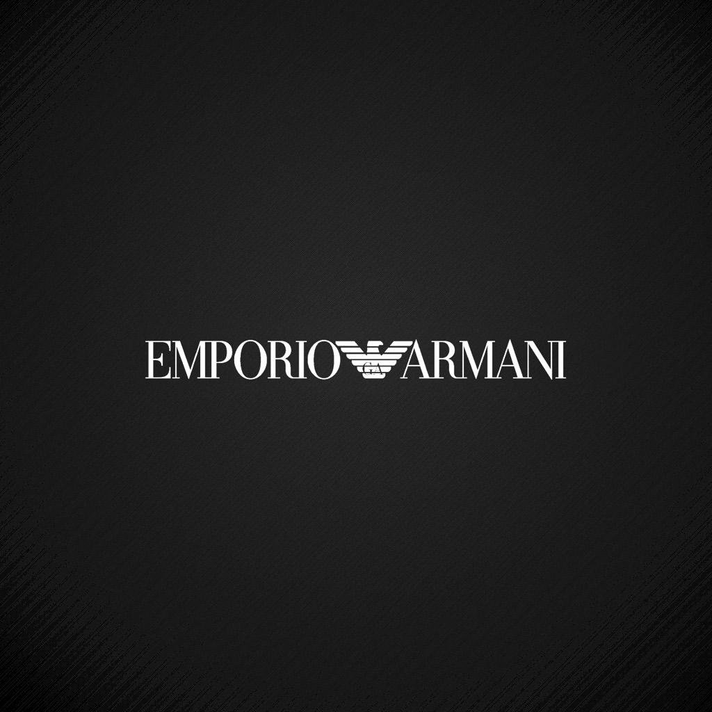 Emporio armani logo ipad wallpaper 1024x1024 background - Emporio giorgio armani logo ...