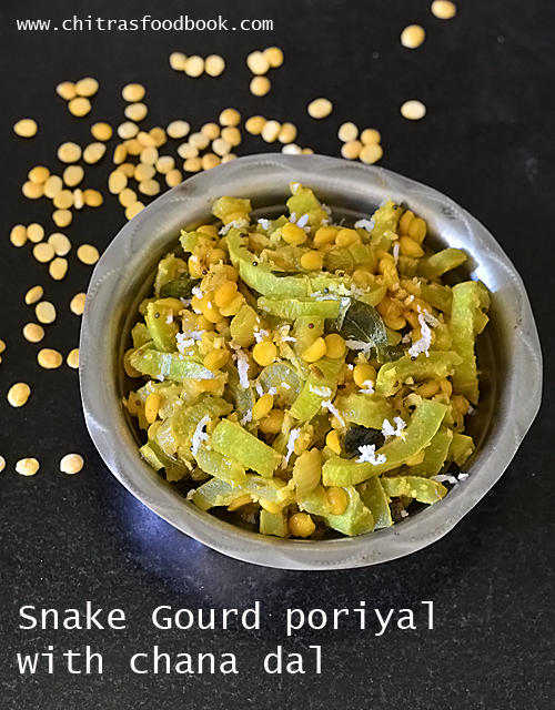 snake gourd poriyal with chana dal