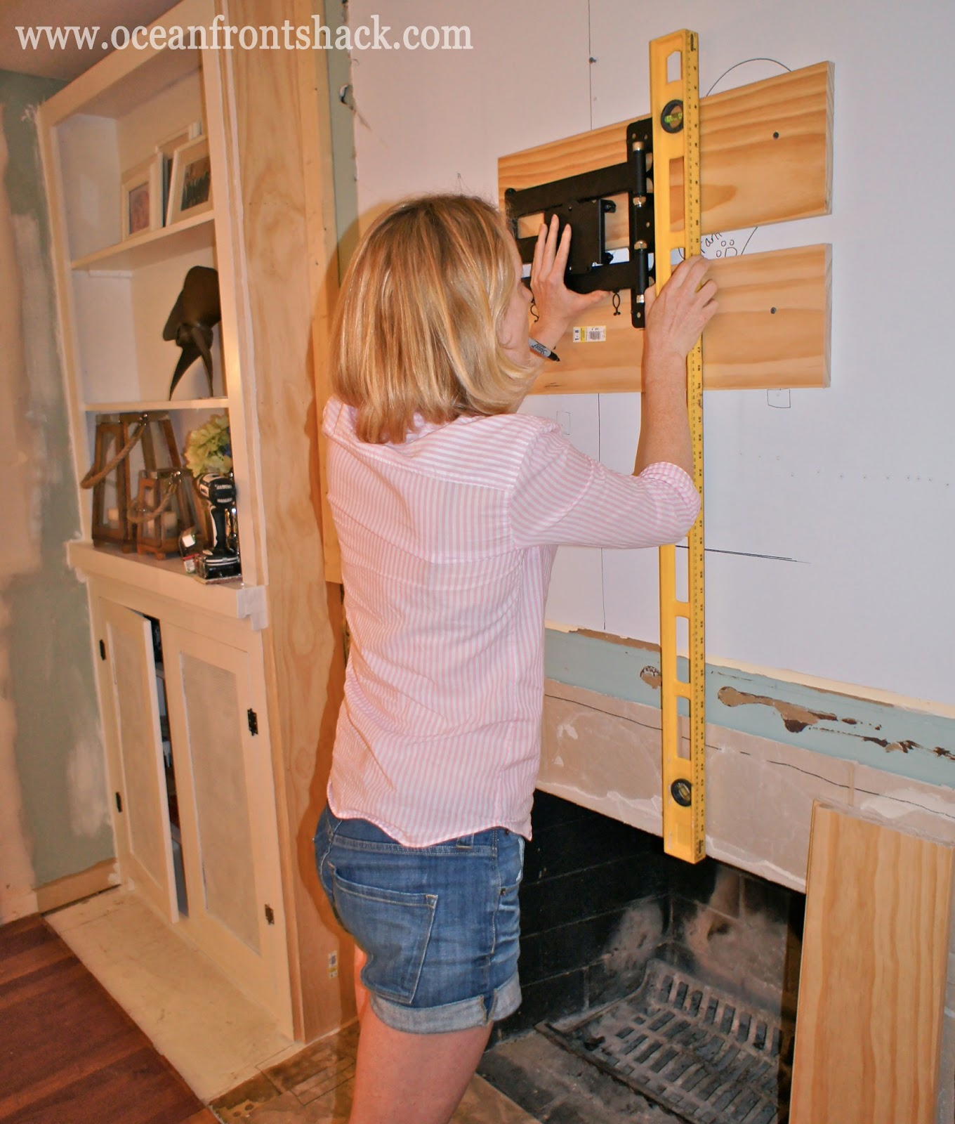 Wall Mounting The Tv Ocean Front Shack How To Run Wiring Through Studs