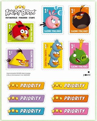kuuden postimerkin tarra-arkki