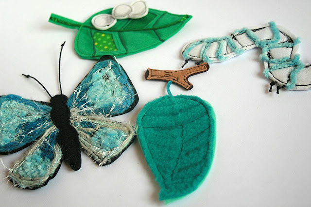 Butterfly life cycle felt play set handmade by TomToy