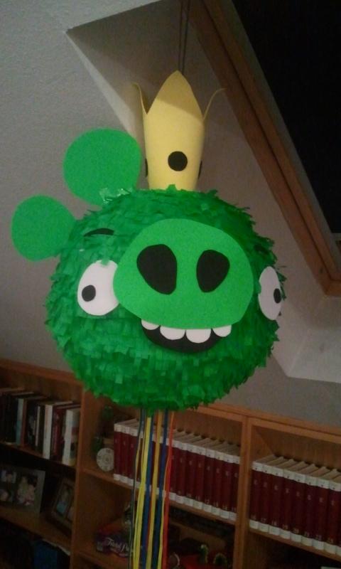 Cosas de Katy Piata casera del cerdo de los Angry Birds