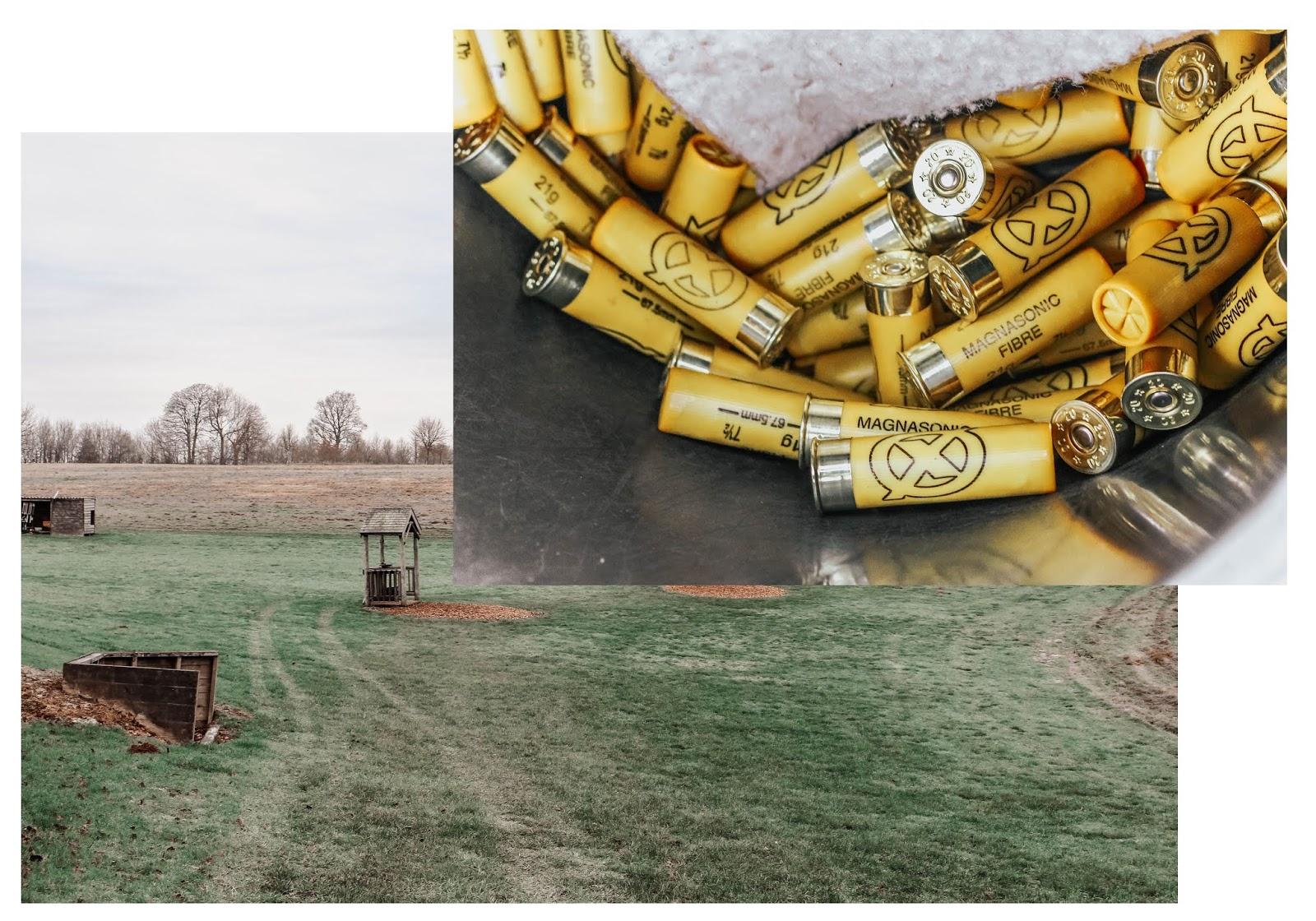 Clay Pigeon Shooting Yellow Shotgun Cartridges