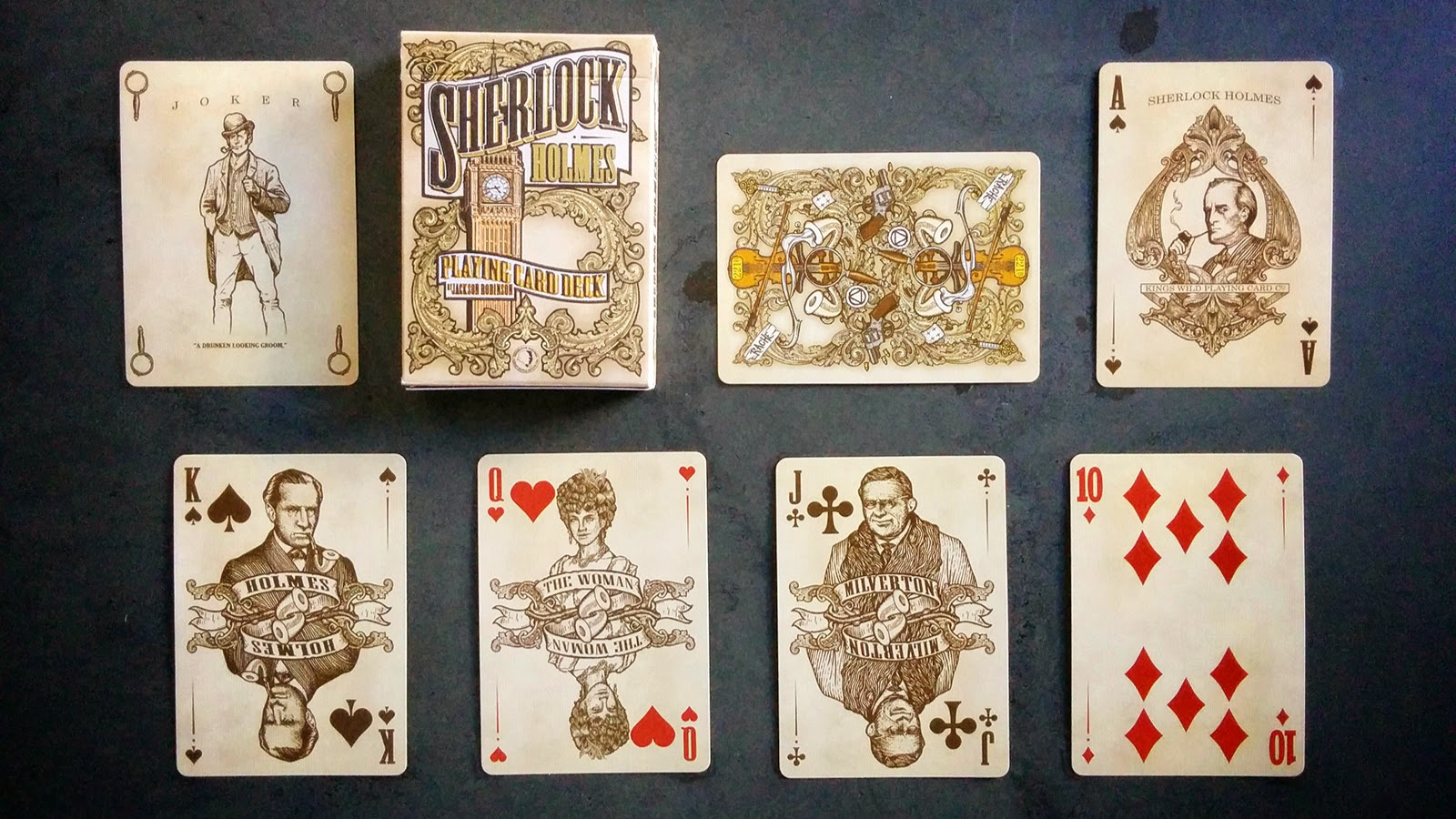 Deck View Sherlock Holmes Playing Cards Baker Street Edition