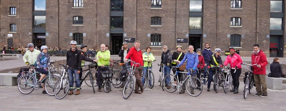 Cyclists on the Lambeth Cyclists architecture ride 25/10/2014 on lambethcyclists.org.uk