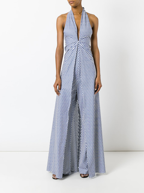 Federica Tosi striped jumpsuit