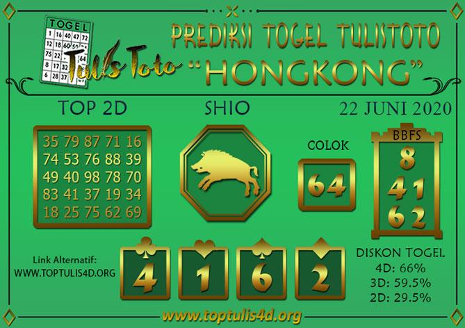 Prediksi Togel HONGKONG TULISTOTO 22 JUNI 2020