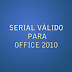 Serial válido para Office 2010