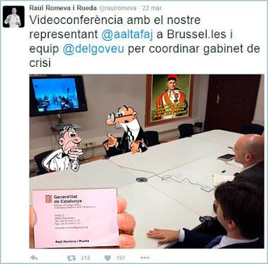 Tuit de Romeva / @pabloharour / granuribe50