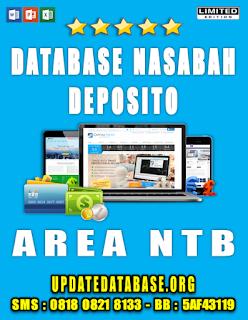 Jual Database Nasabah Deposito NTB