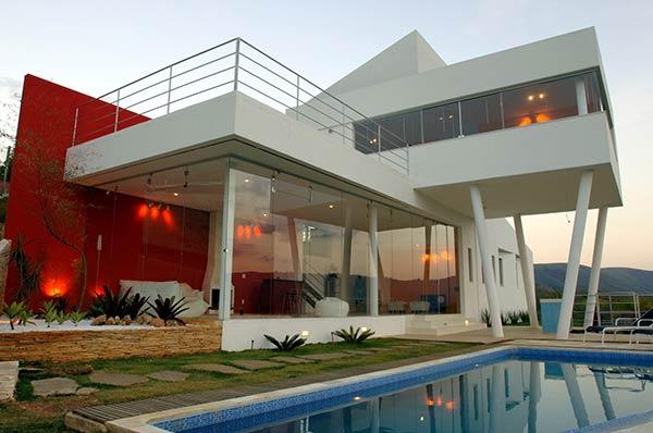 Construindo minha casa clean estilos de decora o nas for Casa moderna 200m2