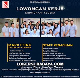 Lowongan Kerja di PT. Sarana Nikoteknik Surabaya Terbaru Mei 2019