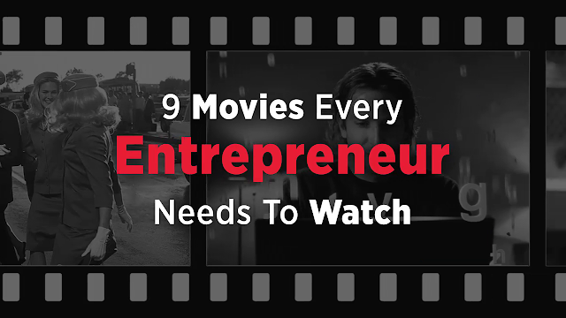 9 Movies Every Entrepreneur Needs To Watch  Pursuit of Happyness (2006) An inspirational movie based on the true story of Chris Gardner, who rose from desperate poverty and homelessness to become a Wall Street legend. Gardner's story is the story of how you can never give up on a dream regardless of what obstacles may come your way.  The Wolf of Wall Street (2013) The true story of New York stockbroker Jordan Belfort (played by Leonardo DiCaprio). The film shows the dangerous side of business success, as Belfort is embroiled in fraud, drugs and all manner of other illegal activity. While it is a cautionary tale, it also serves as an inspirational one for entrepreneurs – as Belfort rises to this position from meagre beginnings, starting off selling penny stocks and rising through the ranks of Wall Street using little more than his natural charisma and incredibly persuasive salesman techniques. There is plenty of wisdom to be taken from the story of a man who run the gamut of having nothing, having it all and then having nothing again. An absolute must see for anyone with aspirations towards big business.  Moneyball (2011) The true story of how Oakland A's general manager Billy Beane disrupted baseball by using computer-generated analysis to recruit players and build a powerhouse team. His use of overall career statistics to recruit players revolutionized baseball.  Office Space (1999) A perfect microcosm of the modern office cube farm - complete with disrespectful, clueless management and tedious, mind-numbing routine - that has created the rise of the modern entrepreneur. An inspirational tale of how one man leads an in-office revolution on a bold chance to break out of his existential workplace hell. Several valuable lessons in this movie including the value of daring to break free of your mind-numbing office job and follow your own path. Also carries a powerful message about the importance of wearing the right amount of flair at all times.  Steve Jobs (2015) A relatively unflinching look at Apple founder Steve Jobs, this movie details both his success and his failures, and his struggle to keep Apple a leader in tech innovation. Jobs' story is both inspirational to entrepreneurs and a cautionary tale of what happens when one man becomes the very soul of the business they founded - and what happens when that person leaves the company. A must-see for every entrepreneur.  The Social Network (2010) Although largely fictionalized, this account of the founding and eventual success of Facebook is an inspirational story of how true entrepreneurs face challenges. The movie teaches important lessons about the need to be resilient yet flexible enough to change direction when needed.  Catch Me If You Can (2002) When you hear Catch Me if You Can, you picture the successful con artist Frank Abagnale (Leonardo DiCaprio) deceptively charming just about anyone with his skill mastery. Based on a true story, Catch me if You Can is a classic film that exemplifies the entrepreneurial journey. It touches upon important themes like creative problem solving, turning something good out of a bad situation, and the good ol' hustle to reach success.  Limitless (2011) This thrilling film about a struggling writer, Eddie Morra (Bradley Cooper) will teach you something about taking shortcuts, quick fixes and the easy path to success. Eddie is sure he has no future as he is faced with unemployment and his girlfriend's rejection. However, that all changes when an old friend gives him a mysterious pill that allows him to access 100% of his brain abilities. Stoked on the untested drug, Eddie rises to the top of the financial world, but terrible side-effects and a dwindling supply threatens to collapse his house of cards. Quick and easy fixes aren't so easy after all, or are they?.  Whiplash (2014) A film about a promising young drummer who enrolls at a cutthroat music conservatory where his dreams of greatness are mentored by an instructor who will stop at nothing to realize a student's potential. This movie is all about pursuing your passion, self-motivation, to be pushed to 'out-do' yourself and finding the inner strength not to give up. Sources:  https://www.inc.com/rhett-power/top-10-movies-every-entrepreneur-should-watch-.html  http://www.lifehack.org/articles/work/10-movies-every-entrepreneur-should-watch.html  http://www.paulkeijzer.com/how-to-stop-failing-at-self-motivation-a-lesson-from-whiplash/