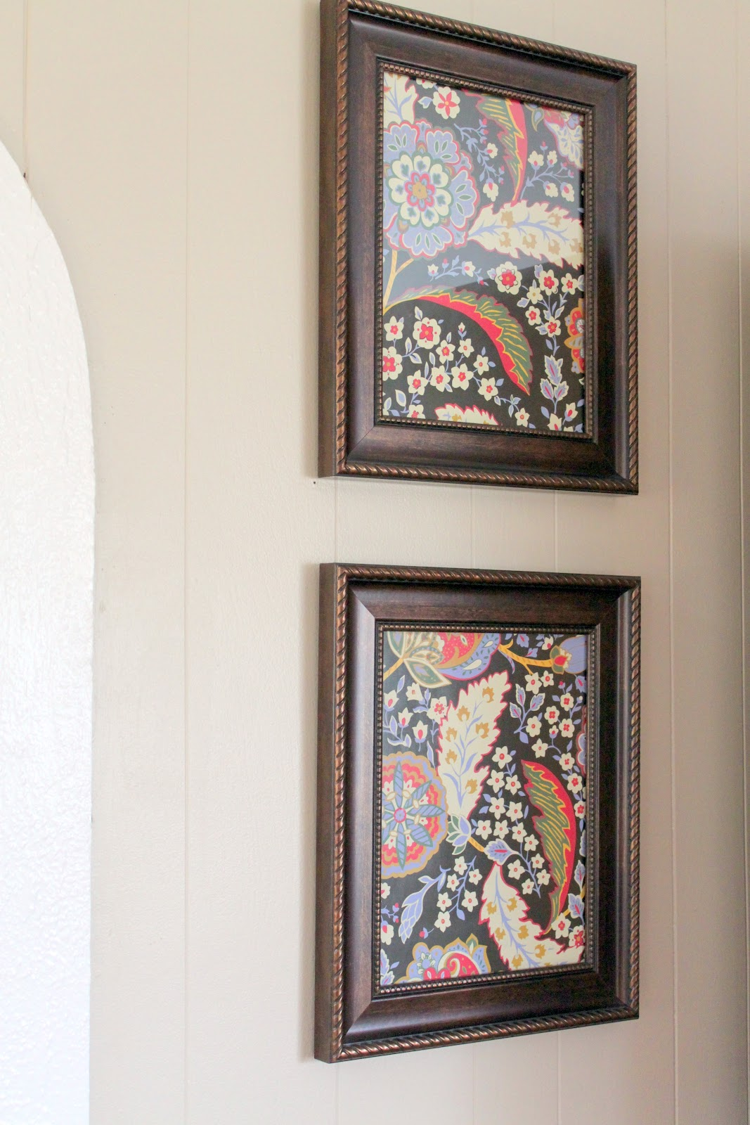 Inexpensive Wall Art ~ Decorating with Paper - The Cottage Mama