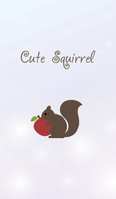 Cute squirrel with fruit