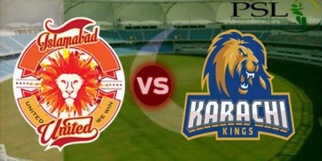 Islamabad United vs Karachi Kings 30th T20 Predictions and Betting Tips