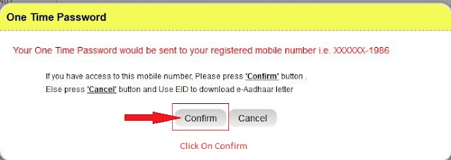 Click On Confirm