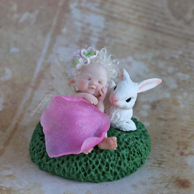 Fatina e Coniglietto in Polymer Clay